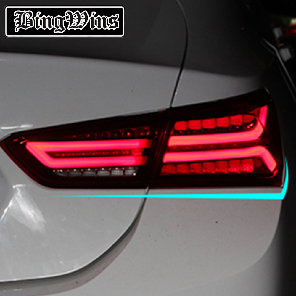 BINGWINS Car Styling For Chevrolet NEW Malibu 2017 Taillights LED Rear Lamp Drl+signal+brake+reverse Streamer Turn Signal