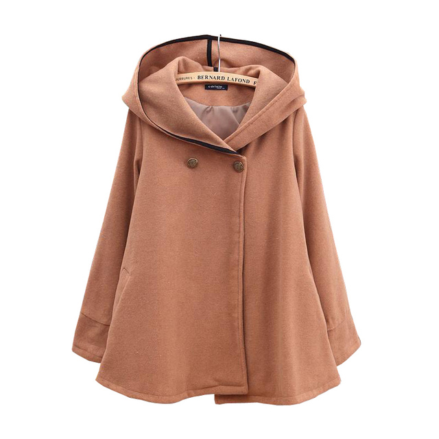 2017 winter New Fashion Women Brand Clothing Hot Sale Wide Lapel Belt Oblique Wool-blend Trench Woolen Coat jacket
