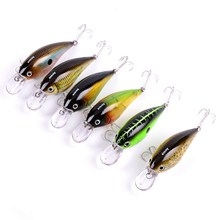AOrace 6PC Unpainted Fishing Lures Exported to Japan 3.55inch 9cm Fishing Bait 16.71g Crank Bait Fishing Tackle 4# Hook