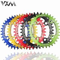 VXM Велосипедный спорт 96BCD 32 т/т 34 т/36 т/38 т Сверхлегкий сплав горный велосипед Узкий широкий Chainring Овальный Chainwheel цикл запчасти для велосипеда