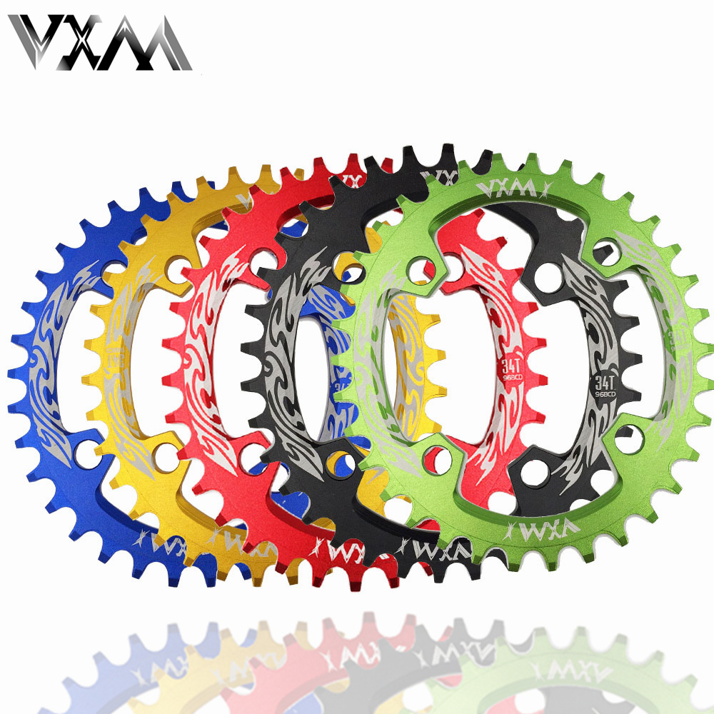 цена на VXM Bicycle 96BCD 32T/34T/36T/38T Ultralight Alloy MTB Bike Narrow Wide Chainring Oval Chainwheel Cycle Crankset Bicycle Parts