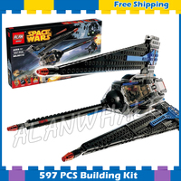 597pcs New Space Wars Tracker I Starship 05112 Model Building Blocks Assemble Boys Movie Games Gifts