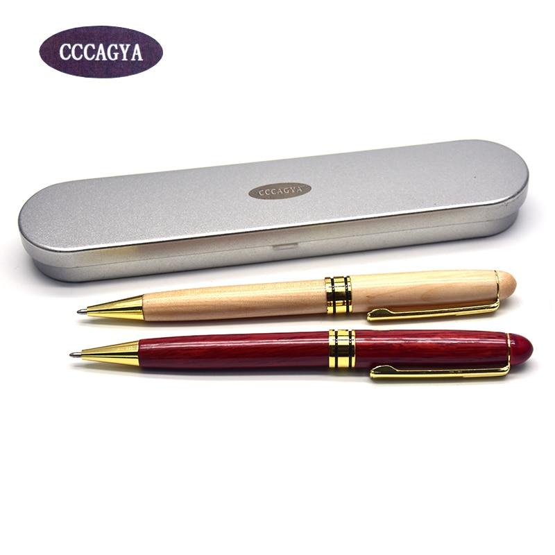 CCCAGYA G088 วัสดุไม้คลาสสิกที่มีคุณภาพสูงปากกาลูกลื่นสำนักงานและโรงเรียนมันปากกา, ดินสอและเขียนซัพพลายของขวัญปากกา