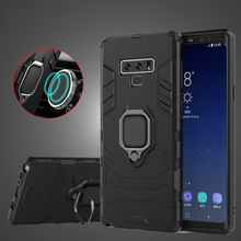 Case For Samsung Galaxy Note 9 J4 J6 A8 Plus Magnetic Car Holder Ring Stand Armor Phone Soft Silicone + Hard PC Cover