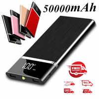 2019 New Power Bank 50000mAh Portable External Battery Huge Capacity Charger Powerbank