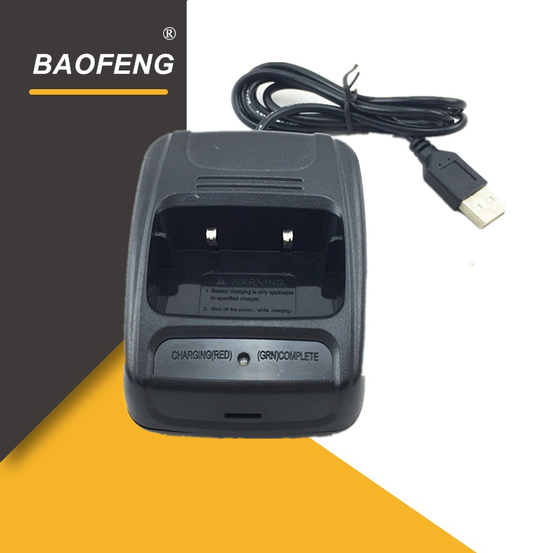 100% Original Baofeng BF-666S USB Adapter Charger Two Way Radio C1 Walky Talky  BF-C1 Li-ion Battery Charger Accessories