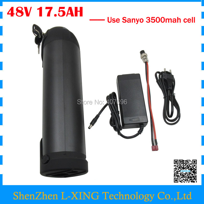 Free customs duty 48V 17.5AH lithium battery 48V 17AH Electric Bike battery 48V Water Bottle battery use NCR18650GA 3500mah cell us eu free customs duty lithium 48v 1000w e bike battery 48v 17ah for original panasonic 18650 cell with 5a charger 30a bms