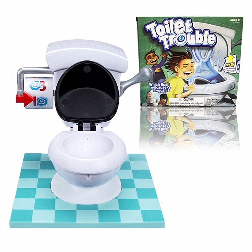 1PCS Creative Toilet Trouble  Funny Game Mini Toys For Parents Kids Friends Play Together Toilet Desktop Game Gifts For Children 2017 fun outdoor sports toys twister moves game play mat twisting body creative interactive educational toys gift for kids