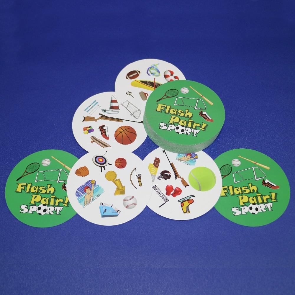 Флэш-пара, животные, спорт и алфавит, спот для детей, развлечение для семьи, двойная находить его, английская версия, карточная игра
