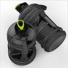 زجاجة مياه رياضية سعة كبيرة سعة 2 لتر جديدة غلاية لياقة بدنية للصالة الرياضية مناسبة للتخييم في الهواء الطلق وزجاجة مياه خاصة بي في الفضاء زجاجة خفق BPA
