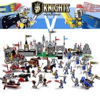 Enlighten Knights Educational Building Blocks Toys For Children Gifts Castle Knight Heros Weapon Boat Gun Horse Compatible Legoe
