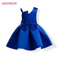 2-10 Jr Baby Meisjes Blauw Overgooiers Moesson Kids Casual Kleding Kinderkleding voor Bruiloft Meisjes Katoenen Voering jurk