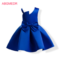 2 10 Yrs Baby Girls Blue Sundresses Monsoon Kids Casual Clothes Children Clothing For Wedding Party