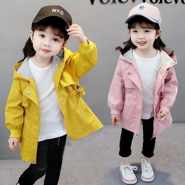Eerlijk Kinderen Losse Wind Jas Jassen Herfst Winter Jongens Meisjes Mode Koreaanse Stijl Hoodie Verzamel Taille Lange Jassen Katoen