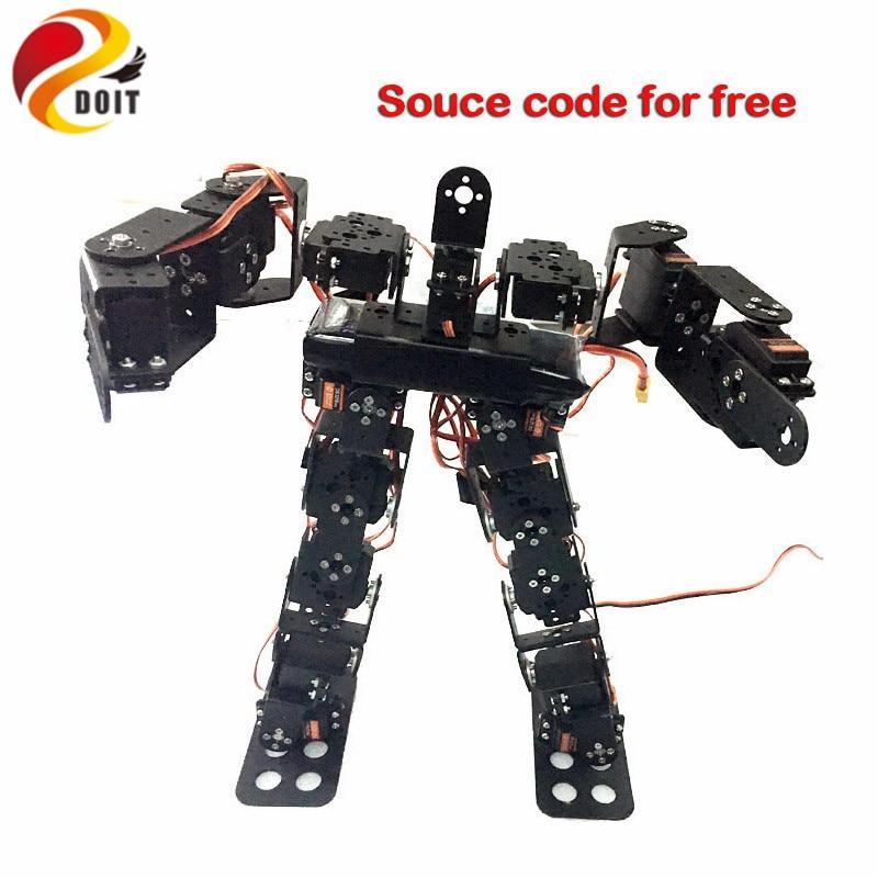 Official DOIT 17 DOF Humanoid Robot Frame Servo Bracket for Robot Chassis +17PCS High Torque Servo with Metal Gear Accessory DIY