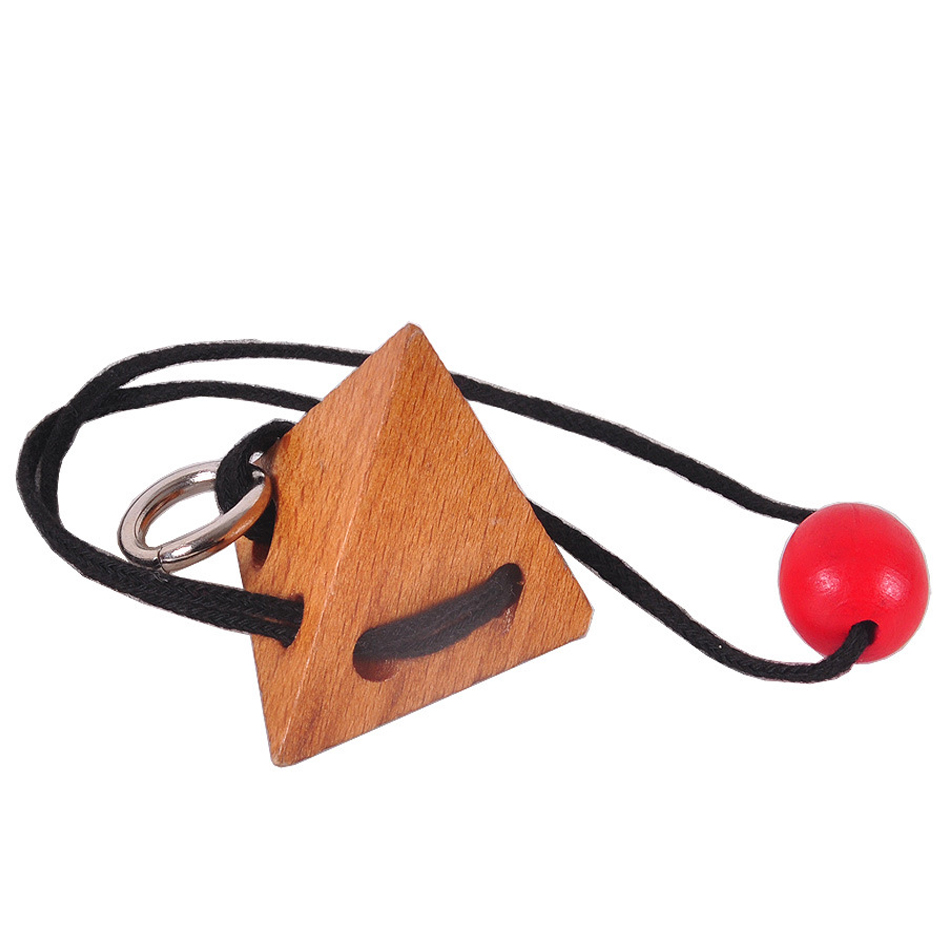 Hot Rope Wooden Puzzle Logic Intelligent Brain Teaser String Puzzles Game For Adults Kids