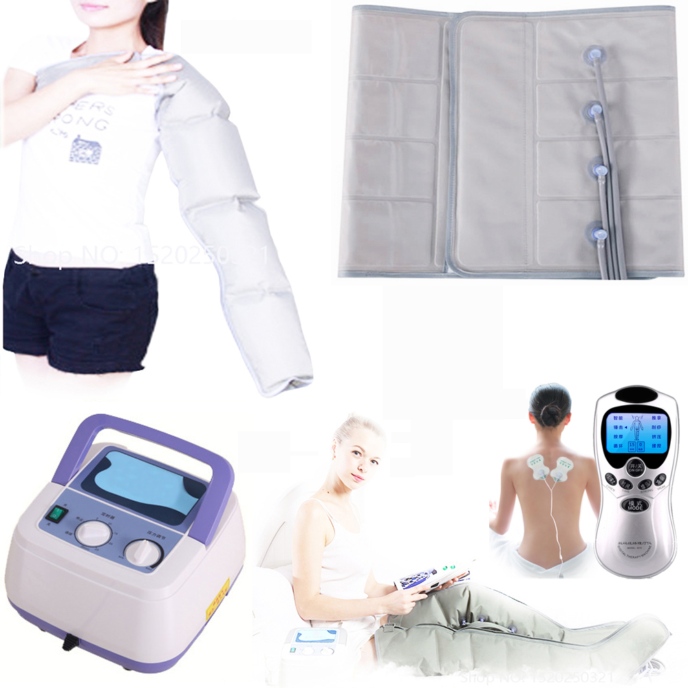 Terapia de compressão de ar infravermelho massager do corpo da cintura perna braço relaxamento alívio da dor do instrumento para promover a circulação sanguínea
