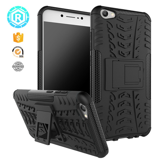 For VIVO V5 Case Vivo Y67 Hard PC + Soft PC Protective Impact Cases Back Shockproof Cover With Kickstand For Vivo V5 Y67 Case