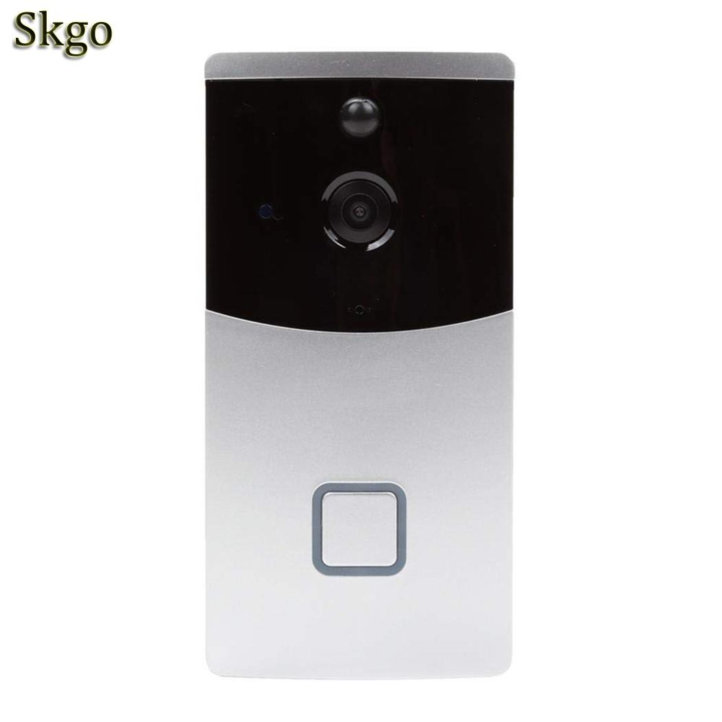 Low Power Intelligent Wifi Voice Intercom 8-32GB Storage Card 720P Doorbell 2.4GHz Home Monitoring DoorbellLow Power Intelligent Wifi Voice Intercom 8-32GB Storage Card 720P Doorbell 2.4GHz Home Monitoring Doorbell