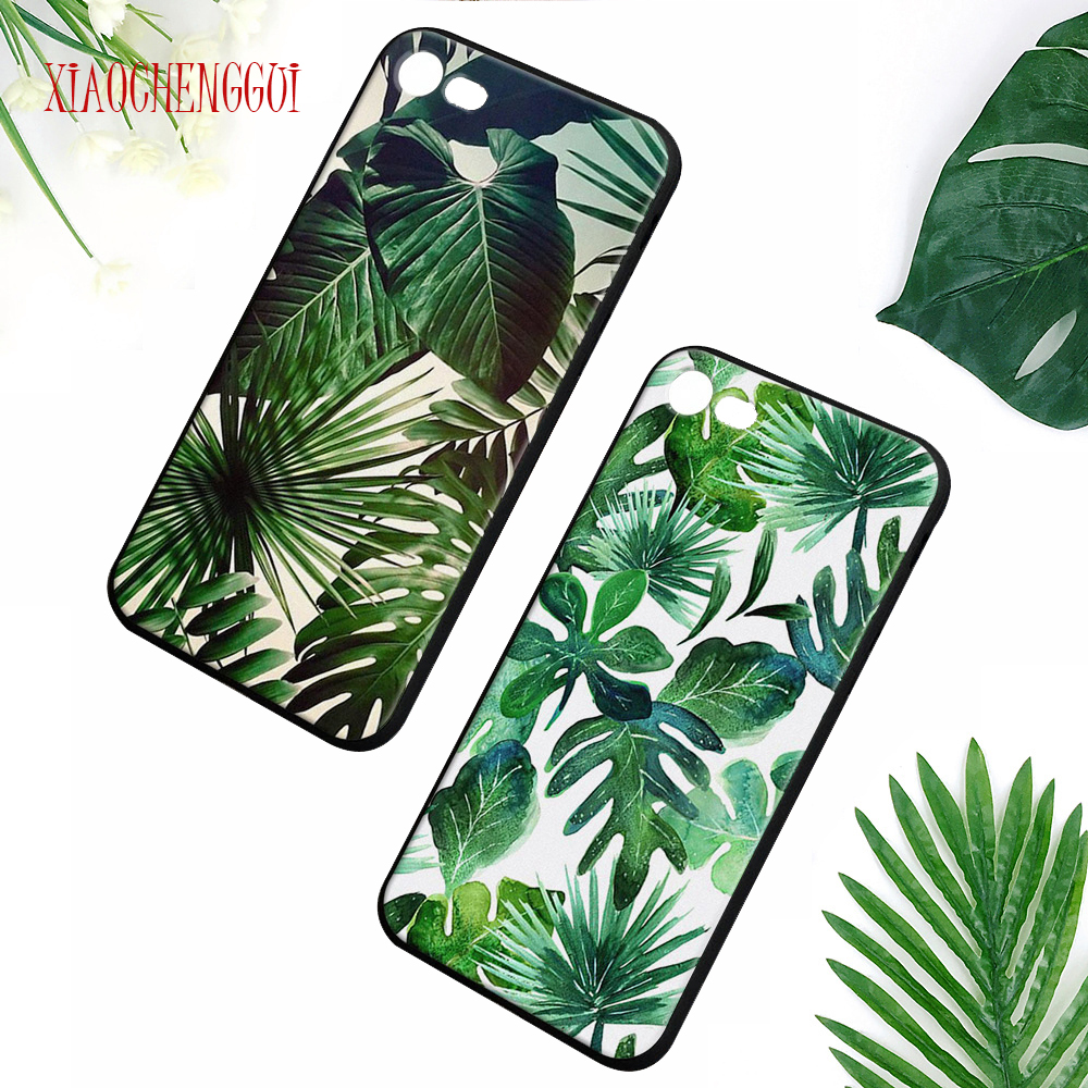 Palm tree Leaves pattern soft silicone Phone Case cover Shell For Apple iPhone 5 5S SE 6 ...