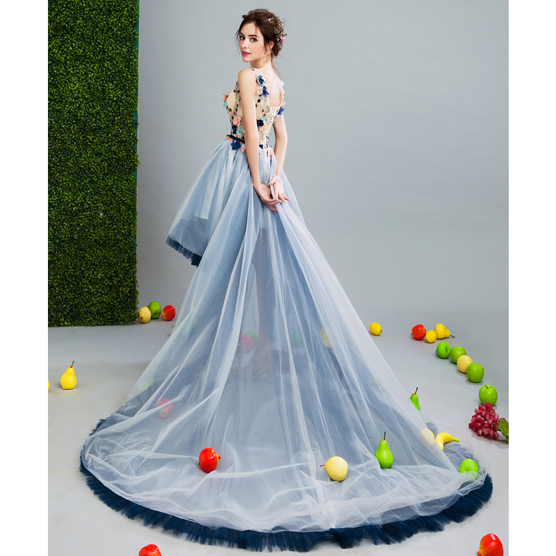 SOCCI WEEKEND 2017 Asymmetrical Prom Dresses short front long back ...