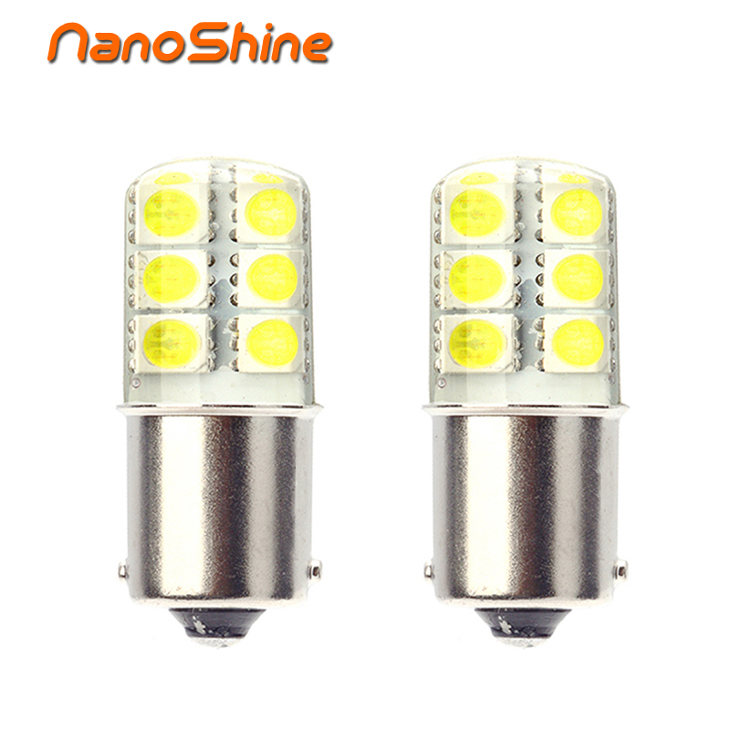 Nanoshine Newest 10 pcs big promotion Silica gel ba15s 1156 led brake Parking Tail Backup Turn Signal light P21W Auto car bulb tissot t055 417 16 057 00