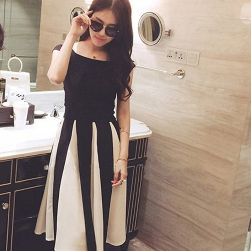 <font><b>Sexy</b></font> Charming Women 2 piece set Slim Striped Off Shoulder <font><b>Short</b></font> Sleeve Summer Dresses Sets New Style Fit <font><b>ensemble</b></font> <font><b>femme</b></font> image
