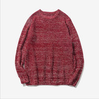 Newest Men S Chunky Cable Knit Jumper Plain Pullover Thick Warm Winter Knitted Long Sleeve Sweater