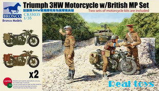 Bronco MODEL CB35035 1/35 Triumph 3HW Motorcycle & British MP