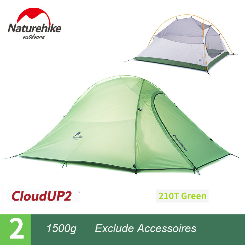 Naturehike Outdoor Camping Tent Beach Shade Ultralight Hiking Backpack Tent 2 Person 4 season Tent With Mat barraca cloud up 2 professional camping gear 2 people outdoor 4 reason camping tent hiking climbing backpacking mountaineering tourism ultralight
