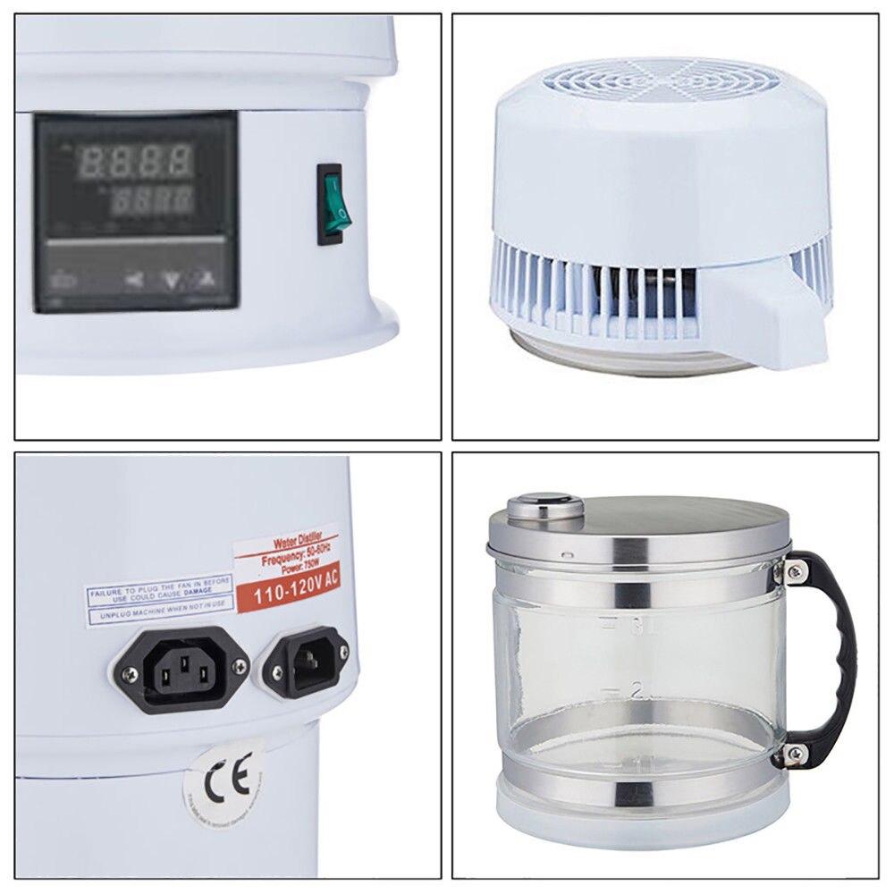 4 litros New Moonshine Ainda Casa Álcool Destilador de Água Pura Filtro Purificador de Equipamentos de Caldeira de Cerveja w/Garrafa de Vidro - 3