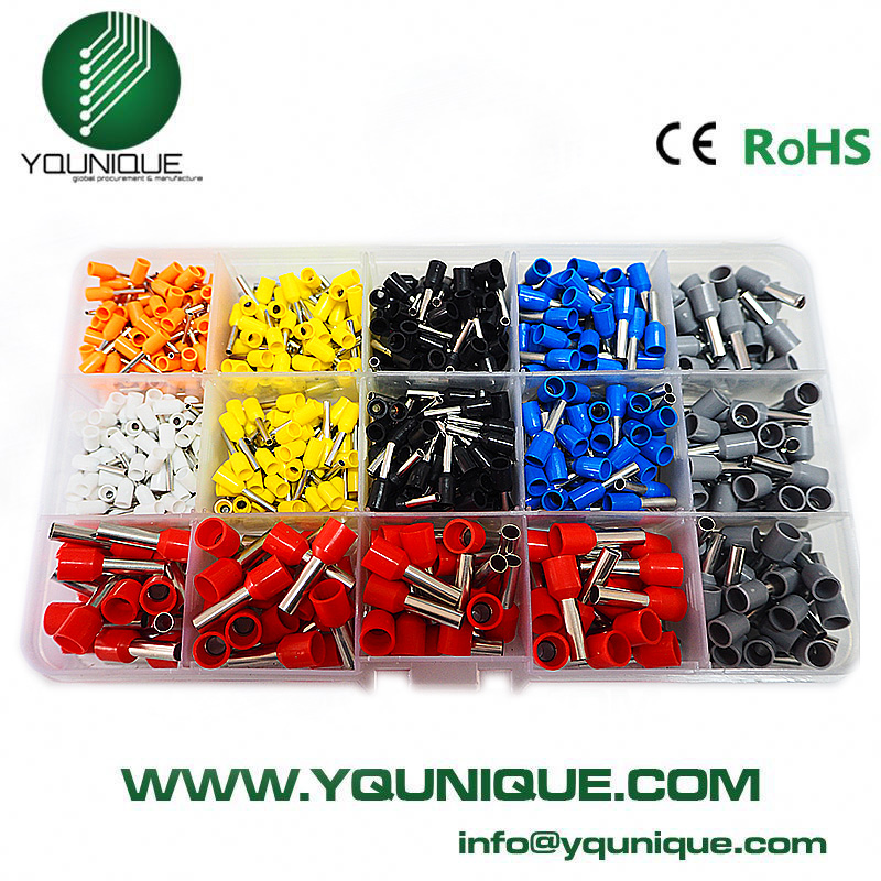 Free Shipping 600pcs Bootlace Ferrule Kit Electrical Crimp Crimper Cord Wire End Terminal 800pcs cable bootlace copper ferrules kit set wire electrical crimp connector insulated cord pin end terminal hand repair kit