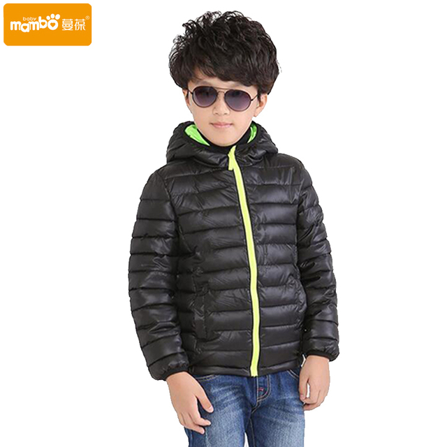 2016 Hot Sale Hooded Girls Boys Winter Coat Long Sleeve Boys Winter Jacket WindProof Children Kids Winter Jacket 4 to 12 Years