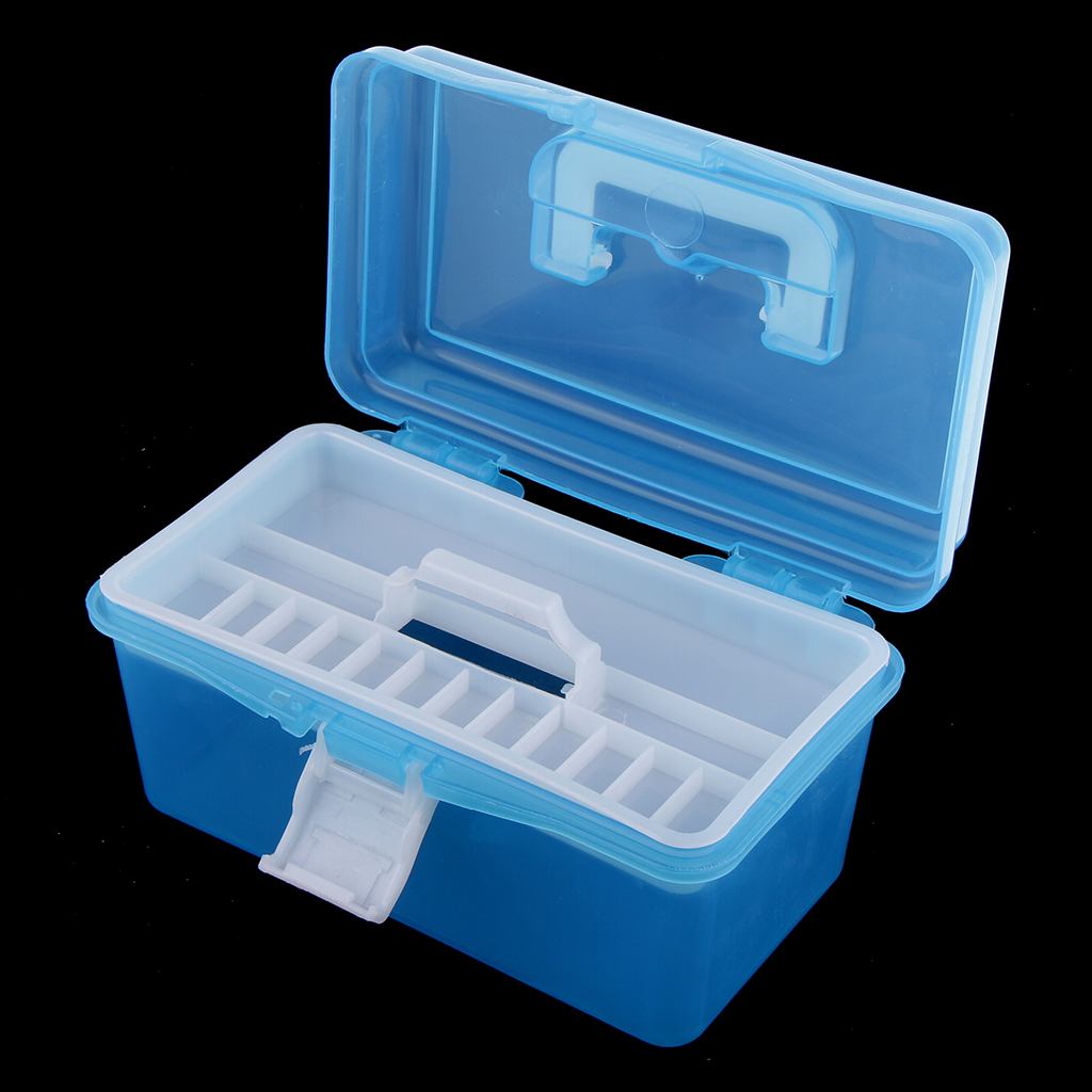 Multifunction Storage Box Quilling Tools and Paper Storage Box 2 Tiers Design with Handle Art Supply Craft Storage Box