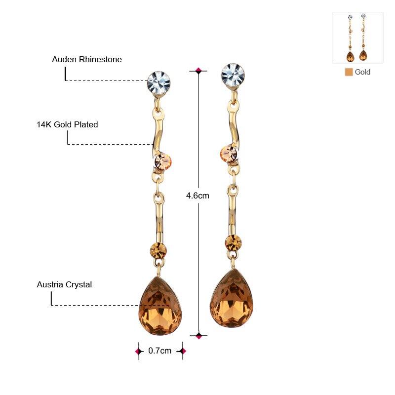 Neoglory Austria Crystal & Auden Rhinestone Uzun Damla Sırğalar Su - Moda zərgərlik - Fotoqrafiya 2