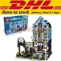 DHL Lepin 15007 Factory City Street European Market Model Building Block Set Bricks Kits Set DIY Clone 10190
