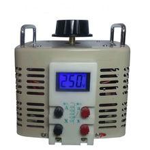 Conversor de voltagem da fase monofásica variac 0-250v do agregado familiar do regulador de tensão da indicação digital 5kva