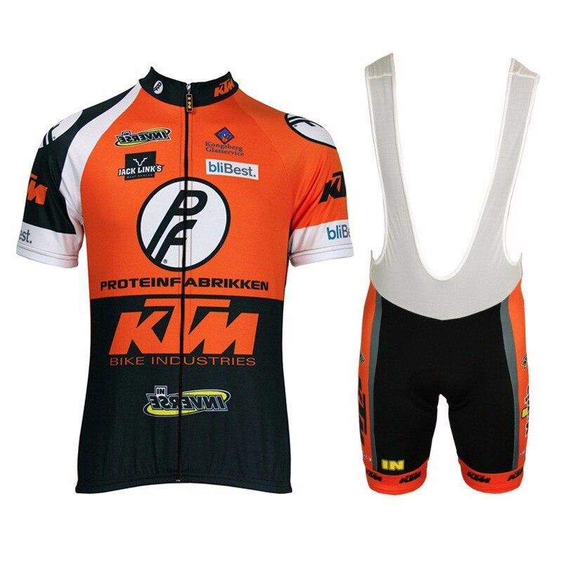 Prix pour 2017 Tous Les style KTM Équipe Cyclisme Jersey Mens VÉLO Maillot Costume de Culotte Bavoirs Shorts Ensemble Respirant Ropa Ciclismo