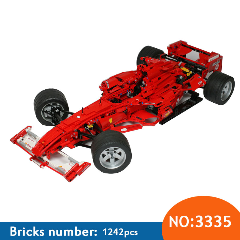 3335 Technic F1 Racer building bricks blocks Toys for children Game Car Formula 1 Compatible with