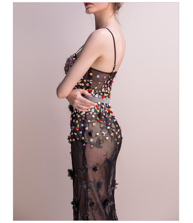 18 Women Dresses Mesh Elegant Party Club Wear Sexy Wrap Summer Long Sweet Floral Nightclub See Through Gothic Lolita Dress 11