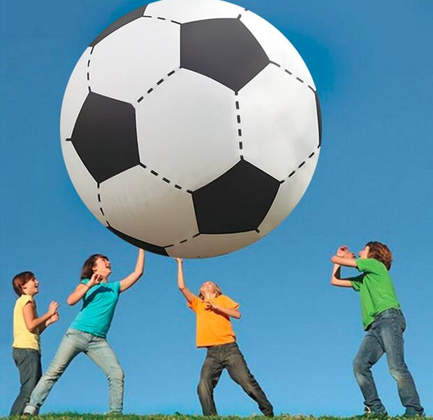 75cm/130cm Gigantic Inflatable Soccer Volleyball Boys Children Outdoor Beach Toys Adult Garden Party Supply Kids Giant Football