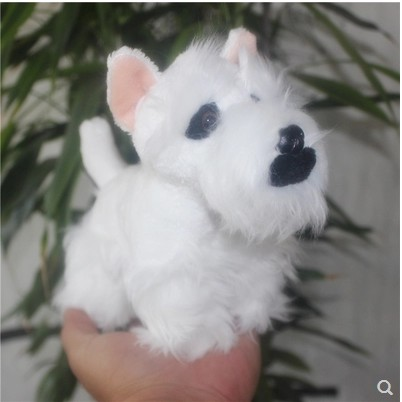 Image 5 - Original lovely  Schnauzer Pet Dog Simulation Animal Soft Stuffed Plush Toy for children Birthday Gift friend girlfreind  GiftStuffed & Plush Animals   -