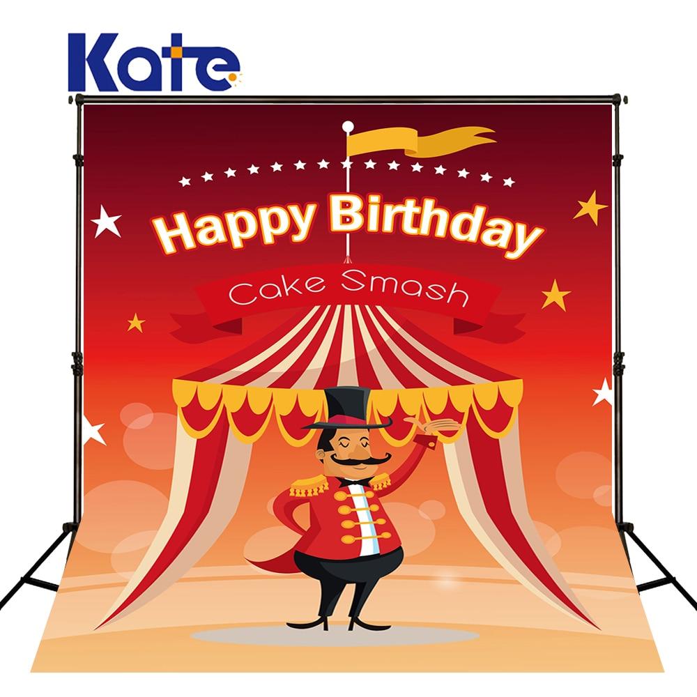 KATE Photography Backdrops 10X10Ft Circus Backdrop Cartoon Birthday Background Pastel Red Background Children Birthday Photos сумка kate spade new york wkru2816 kate spade hanna