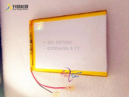 3.7 V 4200 mAh Lithium Polymer Bateria para Tablet PC/MID/PDA 507097