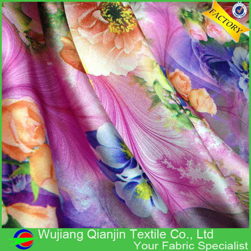 Popular Large Floral Print Fabric