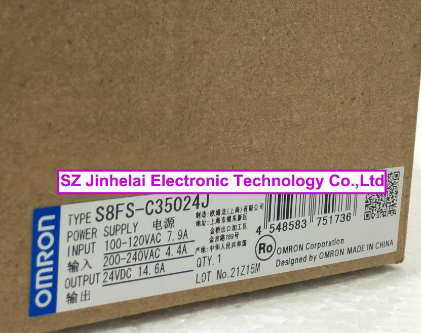 100%New and original  S8FS-C35024J  OMRON Switching power supply new and original e3x da11 s omron optical fiber amplifier photoelectric switch 12 24vdc
