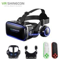 Gafas VR Shinecon 6 0 G04E VR  gafas Google Cardboard 3D de realidad Virtual  auriculares con soporte para Smartphone de 4 7-6 2 pulgadas