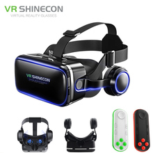 VR Shinecon 6.0 G04E VR Glasses Google Cardboard 3D Virtual Reality Glasses Headset Head Mount for 4.7-6.2′ Inch Smartphone