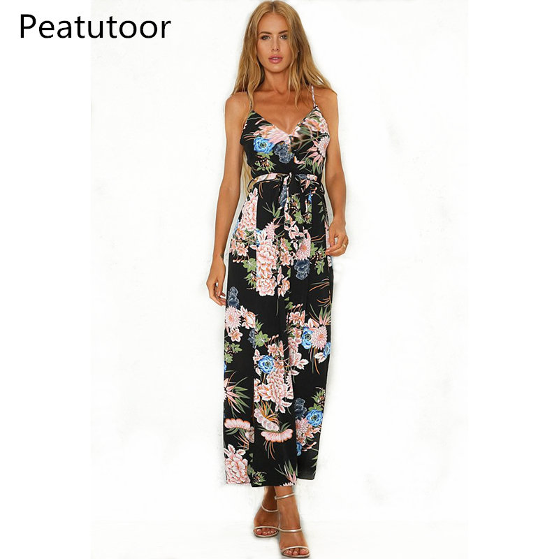 2018 Sexy Women Deep V Neck Jumpsuit Print High Waist Ladies Playsuit Fashion Backless Spaghetti Strap Female Rompers Jumpsuit