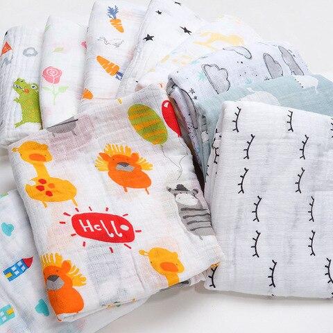 NEW Cotton Baby Blankets Newborn Soft Muslin Swaddle Wrap Feeding Scarf Baby Bath Towel Baby Boy Baby Girl Stroller Accessories Karachi